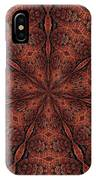 Celtic Ribbons Tile K7-2 Bronze IPhone Case