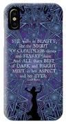 Celtic She Walks In Beauty IPhone X Case