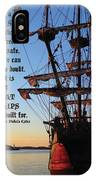 Celtic Tall Ship - El Galeon In Halifax Harbour At Sunrise IPhone X Case