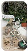 Cement Mixer And A Wheelbarrow In Croatia IPhone Case