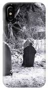 Cemetery And Snow IPhone Case