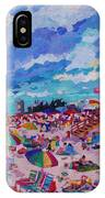 Center Panel Of Triptych Busy Relaxing IPhone Case