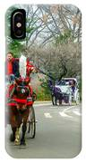 Central Park Horse And Buggy Rides New York City IPhone Case