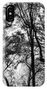 Central Park In Black And White IPhone Case