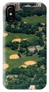 Central Park North Meadow In New York City Aerial View IPhone Case