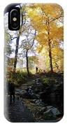 Central Park North Woods In The Fall IPhone Case