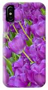 Central Park Spring-purple Tulips IPhone Case