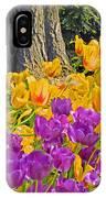 Central Park Tulip Display IPhone Case