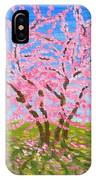 Cercis Tree, Oil Painting IPhone Case