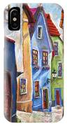Cesky Krumlov Old Street IPhone Case