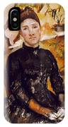 Cezanne: Mme Cezanne, 1890 IPhone Case