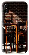 Chairs And Shadows IPhone Case
