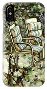 Chairs In Backyard IPhone Case