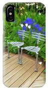 Chairs In The Garden IPhone Case