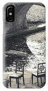 Chairs - Stone Bridge IPhone Case