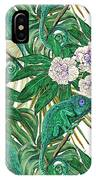 Chameleons And Camellias  IPhone Case