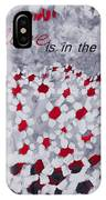 Champs De Marguerites - Love Is In The Air - Red -a23a3 IPhone Case