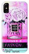 Chanel Perfume With Peony IPhone Case