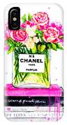 Chanel Nr 5 Flowers With  Perfume IPhone Case