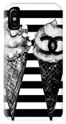 Chanel Print, Ice Cream On Stripes IPhone Case