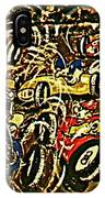 Chaos On The Track IPhone Case