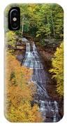 Chapel Falls Autumn Upper Peninsula Michigan IPhone Case