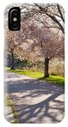 Charles River Cherry Trees IPhone Case