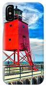 Charlevoix South Pier Light IPhone Case