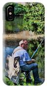 Chartres, France, A Good Day Fishing IPhone Case