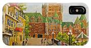 Chateau Frontenac Promenade Quebec City By Prankearts IPhone Case