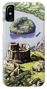 Chateau Gaillard, Also Known As The New Castle Of The Rock  IPhone Case