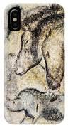 Chauvet Horses Aurochs And Rhinoceros IPhone Case