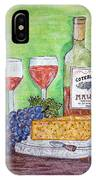 Cheese Wine And Grapes IPhone Case