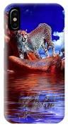 Cheetah Lake IPhone Case