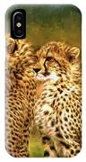 Cheetah Siblings IPhone Case