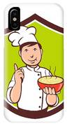 Chef Cook Bowl Pointing Crest Cartoon IPhone Case