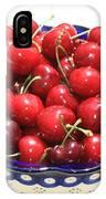 Cherries In Blue Bowl IPhone Case