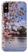 Cherry Blossom Over Tidal Basin IPhone Case