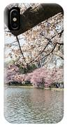 Cherry Blossom Stroll Around The Tidal Basin IPhone Case