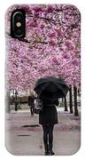 Cherry Blossoms In The Rain IPhone Case