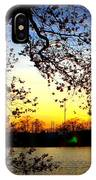 Cherry Blossoms On The Charles IPhone Case