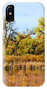 Cherry Creek Pond In Autumn IPhone Case