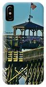 Cherry Grove Pier - Closeup End Of Pier IPhone Case