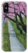 Cherry Trees- Pink Blossoms- Landscape Painting IPhone Case
