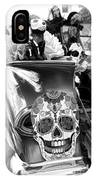Chevy Decor Day Of Dead Bw IPhone Case