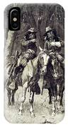Cheyenne Scouts Patrolling The Big Timber Of The North Canadian, IPhone Case