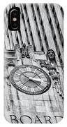 Chicago Board Of Trade Bw IPhone Case