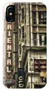 Chicago In November Oriental Theater Signage Vertical IPhone Case