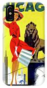 Chicago, Lion, Shopping Woman IPhone Case