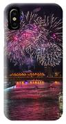 Chicago River Fireworks IPhone Case
